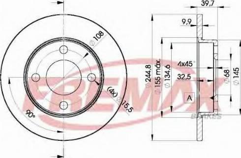 FREMAX BD-3636 - Bremžu diski interparts.lv