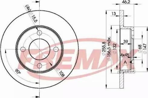 FREMAX BD-3632 - Bremžu diski interparts.lv