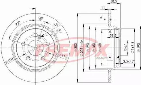 FREMAX BD-3055 - Bremžu diski interparts.lv