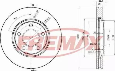 FREMAX BD-3002 - Bremžu diski interparts.lv