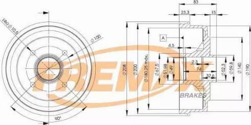 FREMAX BD-3030 - Bremžu trumulis interparts.lv