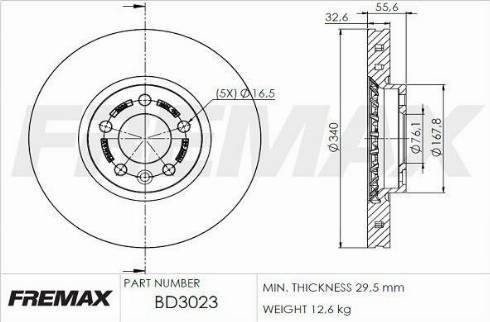 FREMAX BD-3023 - Bremžu diski interparts.lv