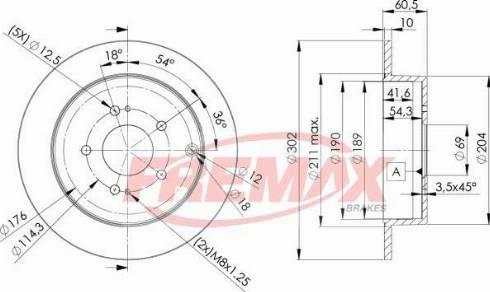 FREMAX BD-3022 - Bremžu diski interparts.lv