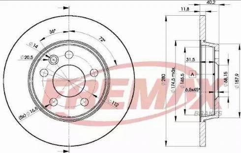 FREMAX BD-3111 - Bremžu diski interparts.lv