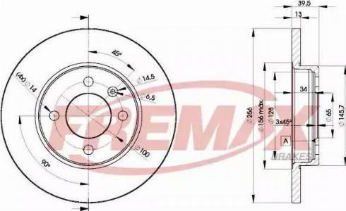 FREMAX BD-3392 - Bremžu diski interparts.lv