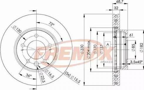 FREMAX BD-3326 - Bremžu diski interparts.lv