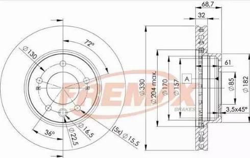 FREMAX BD-3327 - Bremžu diski interparts.lv