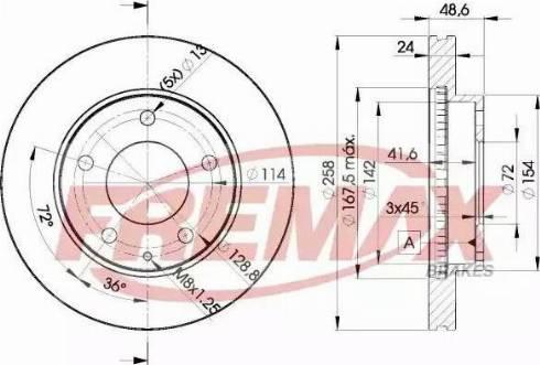 FREMAX BD-3258 - Bremžu diski interparts.lv