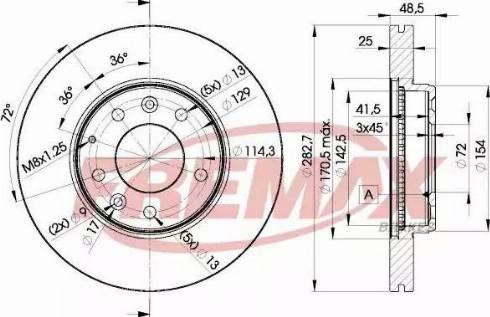 FREMAX BD-3269 - Bremžu diski interparts.lv