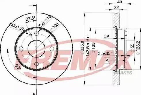 FREMAX BD-3265 - Bremžu diski interparts.lv