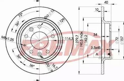 FREMAX BD-3268 - Bremžu diski interparts.lv