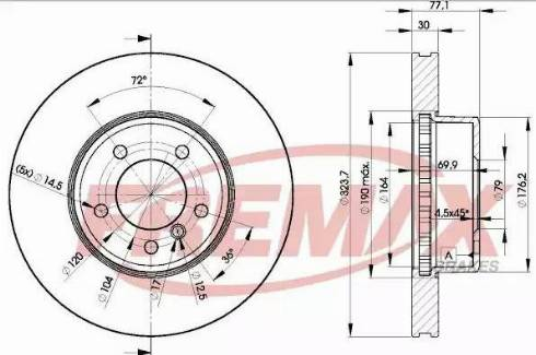 FREMAX BD-3221 - Bremžu diski interparts.lv