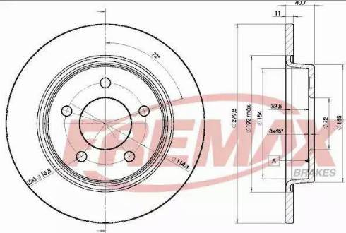 FREMAX BD-3276 - Bremžu diski interparts.lv