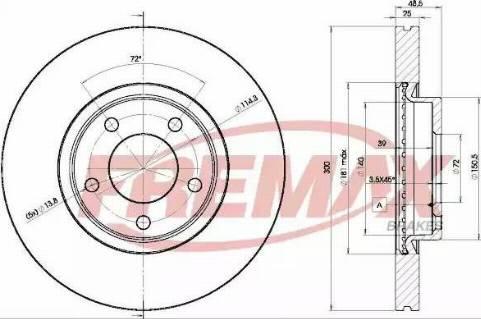 FREMAX BD-3273 - Bremžu diski interparts.lv