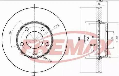 FREMAX BD-3272 - Bremžu diski interparts.lv