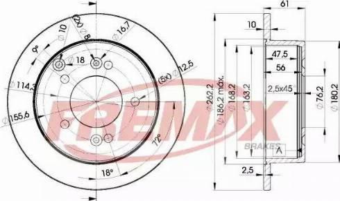 FREMAX BD-2905 - Bremžu diski interparts.lv