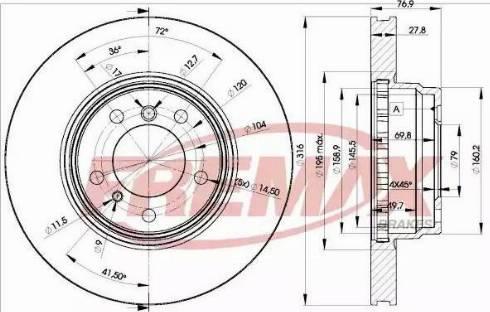 FREMAX BD-2093 - Bremžu diski interparts.lv