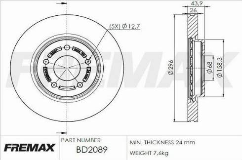 FREMAX BD-2089 - Bremžu diski interparts.lv
