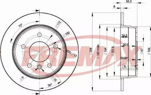 FREMAX BD-2113 - Bremžu diski interparts.lv