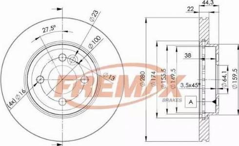 FREMAX BD-2893 - Bremžu diski interparts.lv