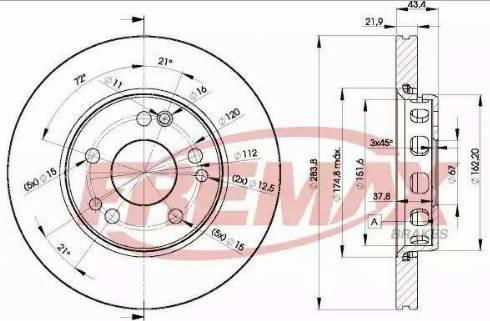 FREMAX BD-2312 - Bremžu diski interparts.lv