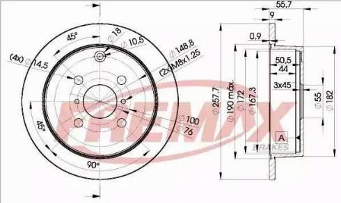 FREMAX BD-2251 - Bremžu diski interparts.lv