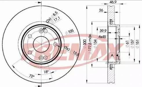 FREMAX BD-2235 - Bremžu diski interparts.lv