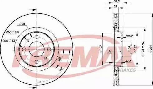 FREMAX BD-7947 - Bremžu diski interparts.lv