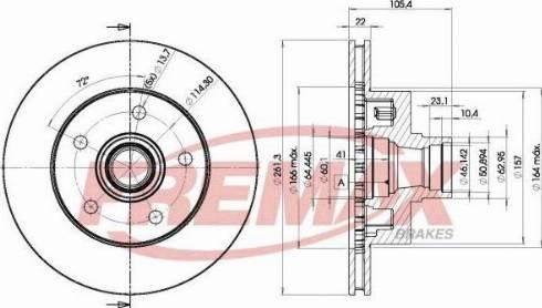 FREMAX BD-7290 - Bremžu diski interparts.lv