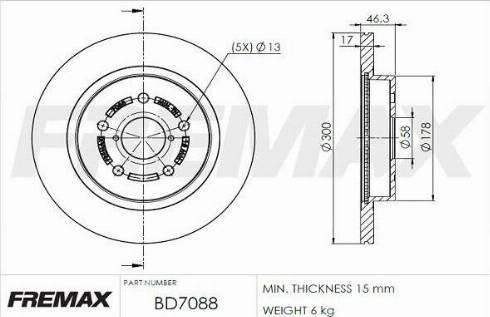 FREMAX BD-7088 - Bremžu diski interparts.lv