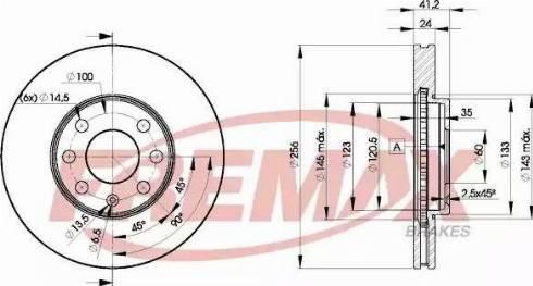 FREMAX BD-7879 - Bremžu diski interparts.lv