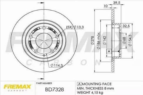 FREMAX BD-7328 - Bremžu diski interparts.lv