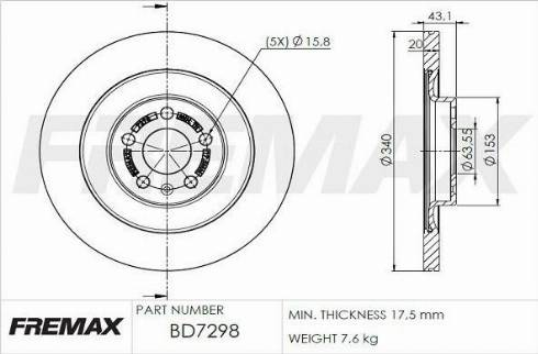 FREMAX BD-7298 - Bremžu diski interparts.lv
