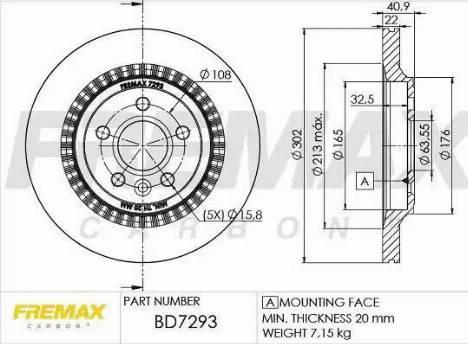 FREMAX BD-7293 - Bremžu diski interparts.lv