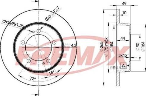 FREMAX BD-7297 - Bremžu diski interparts.lv