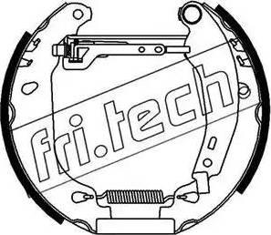 Fri.Tech. 16092 - Bremžu komplekts, trumuļa bremzes interparts.lv