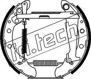 Fri.Tech. 16087 - Bremžu komplekts, trumuļa bremzes interparts.lv