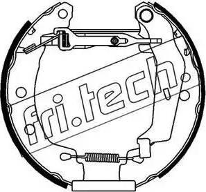 Fri.Tech. 16149 - Bremžu komplekts, trumuļa bremzes interparts.lv