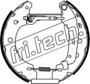 Fri.Tech. 16156 - Bremžu komplekts, trumuļa bremzes interparts.lv