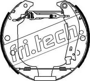 Fri.Tech. 16151 - Bremžu komplekts, trumuļa bremzes interparts.lv