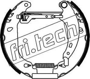 Fri.Tech. 16165 - Bremžu komplekts, trumuļa bremzes interparts.lv
