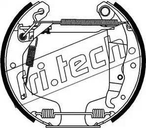 Fri.Tech. 16118 - Bremžu komplekts, trumuļa bremzes interparts.lv