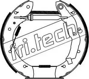 Fri.Tech. 16179 - Bremžu komplekts, trumuļa bremzes interparts.lv