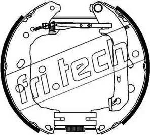 Fri.Tech. 16395 - Bremžu komplekts, trumuļa bremzes interparts.lv