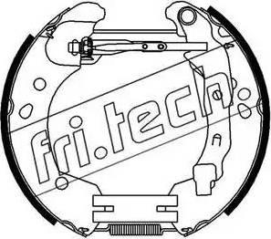 Fri.Tech. 16396 - Bremžu komplekts, trumuļa bremzes interparts.lv
