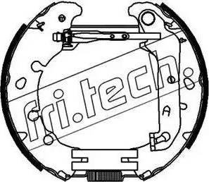 Fri.Tech. 16392 - Bremžu komplekts, trumuļa bremzes interparts.lv