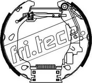 Fri.Tech. 16383 - Bremžu komplekts, trumuļa bremzes interparts.lv