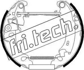 Fri.Tech. 16250 - Bremžu komplekts, trumuļa bremzes interparts.lv