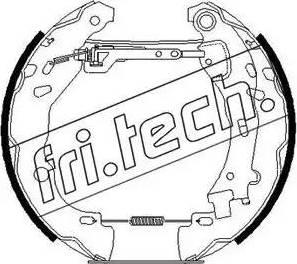 Fri.Tech. 16258 - Bremžu komplekts, trumuļa bremzes interparts.lv