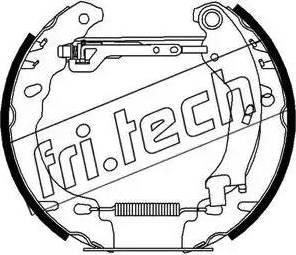 Fri.Tech. 16278 - Bremžu komplekts, trumuļa bremzes interparts.lv